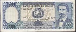Bolivia, 500 Pesos Bolivianos, P.165a (Printer ABNC) VF - Bolivia