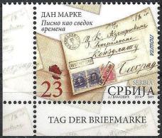 """Serbien 2014: """"Tag Der Briefmarke""""  Mit Deutschen Tab - Tag Der Briefmarke"""