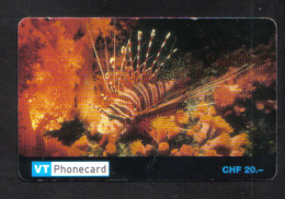 SWITZERLAND  PREPAID PHONECARD  - USED