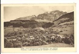 Cp, 74, Mont-Saxonnex, Pincru, Vue Générale Et Massif Du Bargy, Voyagée 1935 - Other Municipalities