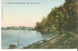 "4 - A Pretty Drive Aound ""Masaweppi"" Lake, Ayer's Cliff, Quebec  Lake Massawippi  Lac Massawippi - Quebec"