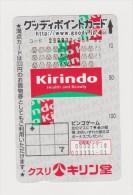Telephon Card  Japan - Japon : Kirindo - Japan