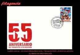 CUBA SPD-FDC. 2013-44 55 ANIVERSARIO DEL TRIUNFO DE LA REVOLUCIÓN CUBANA - FDC