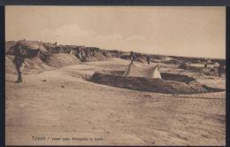 WC498 TRIPOLI - COME SONO TRINCERATE LE TENDE - Libyen