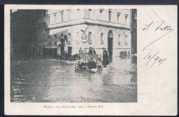 WC520 ROMA - PIAZZA PIA  , LA PIENA DEL 1900 ( RETRO INDIVISO ) - Places