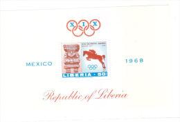 Liberia 1968 Olympics Games Mexico S/S MNH - Liberia