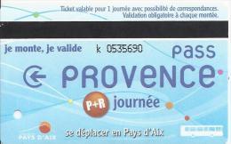 1 Carte Parking + Bus. Aix En Provence. (Voir Commentaire) - Bus