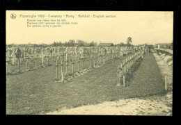 "Poperinghe  Poperinge 1920  - cemetery "" Remy "" cimeti�re  kerkhof  English section"