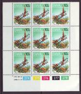 D120612 South West Africa 1978 UNIVERSAL SUFFRAGE Voting 10c Control MNH - SWA Namibia Namibie