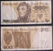 BELGIQUE Billet Banknote 500 Zlotych Avec Tadeusz Kosciuszko N° EC 1862776 De 1982 - Poland