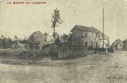 Bahnhof Von Langemark ... Vernietigd - Duitse Postkaart 1917 ( Verso Zien ) - Langemark-Poelkapelle