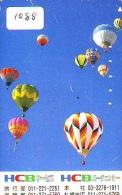Telecarte  JAPON * BALLON * MONTGOLFIERE (1088)  Hot Air Balloon * Aerostato  PHONECARD JAPAN * - Sport