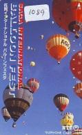 Telecarte  JAPON * BALLON * MONTGOLFIERE (1089)  Hot Air Balloon * Aerostato  PHONECARD JAPAN * - Sport