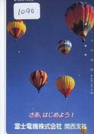 Telecarte  JAPON * BALLON * MONTGOLFIERE (1090)  Hot Air Balloon * Aerostato  PHONECARD JAPAN * - Sport