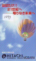 Telecarte  JAPON * BALLON * MONTGOLFIERE (1093)  Hot Air Balloon * Aerostato  PHONECARD JAPAN * - Sport