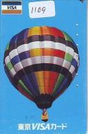 Telecarte  JAPON * BALLON * MONTGOLFIERE (1109)  Hot Air Balloon * Aerostato  PHONECARD JAPAN * - Sport