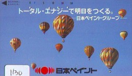 Telecarte  JAPON * BALLON * MONTGOLFIERE (1130)  Hot Air Balloon * Aerostato  PHONECARD JAPAN * - Sport