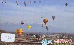 Telecarte  JAPON * BALLON * MONTGOLFIERE (1131)  Hot Air Balloon * Aerostato  PHONECARD JAPAN * - Sport