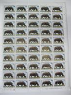 Congo-WWF-1978-Rhino-Comp Lete Sheet Of 50 - Ohne Zuordnung