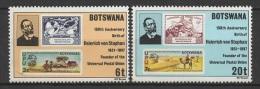 Botswana (1981) Yv. 414/15  /  Timbre Sur Timbre - Stamp On Stamps - Sello Sobre Sello - Postzegels Op Postzegels
