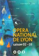 """Carte Postale édition """"Carte à Pub"""" - Opéra National De Lyon - Saison 02 / 03 - Advertising"""