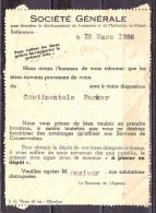 Lettre De  CHANTILLY Entrepot  Oise      Le  I2 3 1952   De La STE GENRALE Bureau De CHANTILLY - 1945-54 Marianna Di Gandon