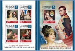 slm14309ab Solomon Is. 2014 Jos�phine de Beauharnais Napoleon Bonaparte 2 s/s