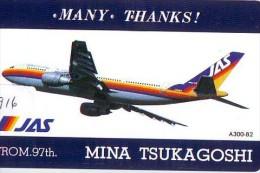Télécarte Japon * AVION * JAS (1916)  Japan Phonecard * AIRPLANE * AIRLINES * AVIATION * TK FLUGZEUG - Airplanes