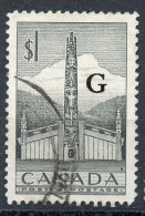 Canada 1952 $1 Totem Pole Overprint Issue #O32 - Service