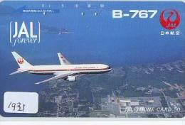 Télécarte Japon * AVION   (1931) Japan Phonecard * AIRPLANE * AIRLINES * AVIATION * TK FLUGZEUG - Airplanes