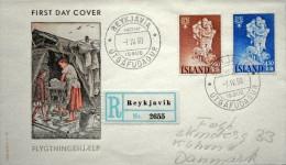 Iceland 1969 Weltflûchtlingsjahr   Minr.340-41  FDC    ( Lot 3553 ) FOGHS COVER Registered - FDC