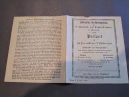 SUDDENTSCHE VERSICHERUNGSBANK FUR MILITARDIENST UND ZOCHER NUSTENER - Vieux Papiers