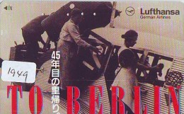 Télécarte Japon * AVION *  LUFTHANSA (1949)  Japan Phonecard * AIRPLANE * AIRLINES * AVIATION * TK FLUGZEUG - Avions