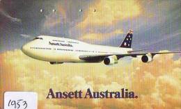 Télécarte Japon * AVION *  ANSETT AUSTRALIA (1953)  Japan Phonecard * AIRPLANE * AIRLINES * AVIATION * TK FLUGZEUG - Avions
