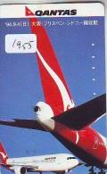 Télécarte Japon * AVION *  QANTAS (1955)  Japan Phonecard * AIRPLANE * AIRLINES * AVIATION * TK FLUGZEUG - Airplanes