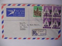 Afrique Du Sud Lettre Recommande De Johannesburg 1969 Pour Nice - Afrique Du Sud (1961-...)