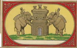 Chromo Etiquette/ Non Personnalisée/Produit D´Hygiéne/Elephants Et Cornacs/GB?/ Vers 1890-1900         PARF68 - Etiquettes