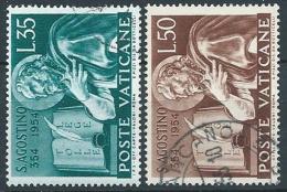 1954 VATICANO USATO S. AGOSTINO - VN1 - Oblitérés