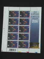 België Belgique 2004 JO OS Athene Polsstokspringen Saut à La Perche Feuillet PLANCHE 1 Cob 3305 Yv 3392 MNH ** - Kleinbögen