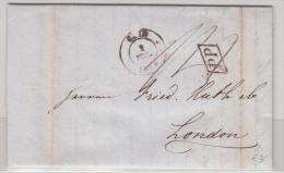 BELGIUM USED COVER 02/07/1844 GAND VERS LONDRES - 1830-1849 (Belgique Indépendante)