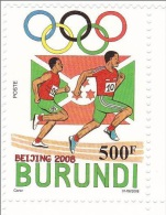 [X] 1 Timbre Stamp ** Burundi JO Jeux Olympiques Pékin Beijing Olympics Olympic Games Course Running 2008 - Burundi