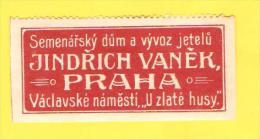 Old Labels, Promotional Labels Or Similar - Jindrich Vanek, Praha - Autres