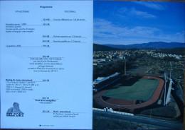 Belfort Programme Inauguration Stade Roger Serzian 1990 Jean-Pierre Chev�nement Roger Bambuck