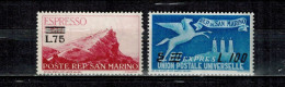 SAN MARINO-1957- Sc# E24-E25 MINT NEVER HINGED VF -SALE $ 3.99 - Francobolli Per Espresso