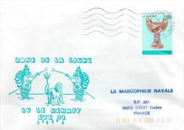 LETTRE AVISO  LV LE HENAFF ZONE DE LA LIGNE ETE 94 TIMBRE VERRERIE GALLE - Naval Post