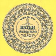 Old Labels, Promotional Labels Or Similar - Bayer, Karlsbader Oblaten, R = 15 Cm - Altri