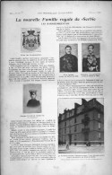 De 1903 - Article/photogravure - Proclamation De Pierre Ler , Nouveau Roi De Serbie - - Oude Documenten
