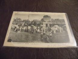 A203..CPA...14...VILLERS- SUR-MER..Les Bains.. Rare Beau Plan Animé...ecrite & Voyagée 1904 - Villers Sur Mer