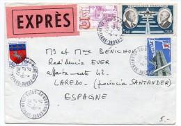 Divers Sur Lettre Par Exprès De 1977 Pour L'Espagne - 1961-....