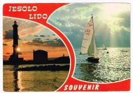 K1123 Jesolo Lido (Venezia) - Barca A Vela - Sailing Boat - Bateau à Voile - Segelboot / Viaggiata 1980 - Italia